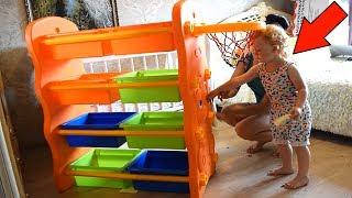 Розпакування Органайзер Стелаж 3 в 1 для ІГРАШОК з Баскетбольним Кільцем з сайту MyToys.
