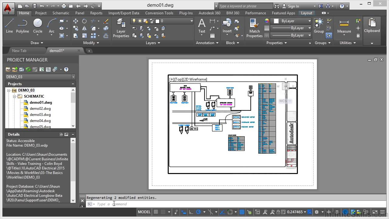 Autocad Conduit Wiring Diagram 2015 Schematic Diagrams In Electrical Tutorial Model And Layout Youtube