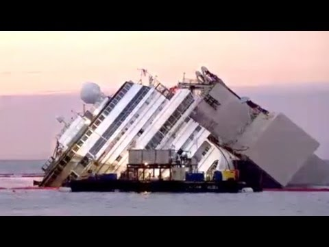 Raising the Costa Concordia: A Time Lapse