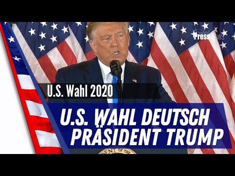 U.S. Wahl 2020 Deutsch - Präsident Trump spricht zur Nation
