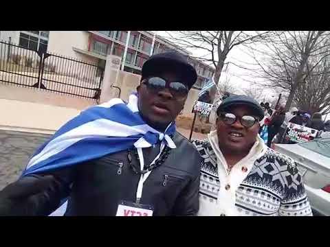 DR. NICOLAS SANTOS  IN NIGERIA EMBASSY PROTEST ON ABDUCTED LEADERS