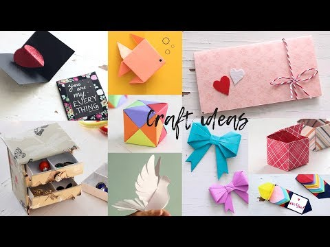 10 Lovely Paper Crafts | DIY Craft Ideas | Art All The Way