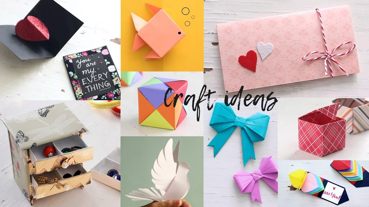 10 Lovely Paper Crafts Diy Craft Ideas Art All The Way Youtube