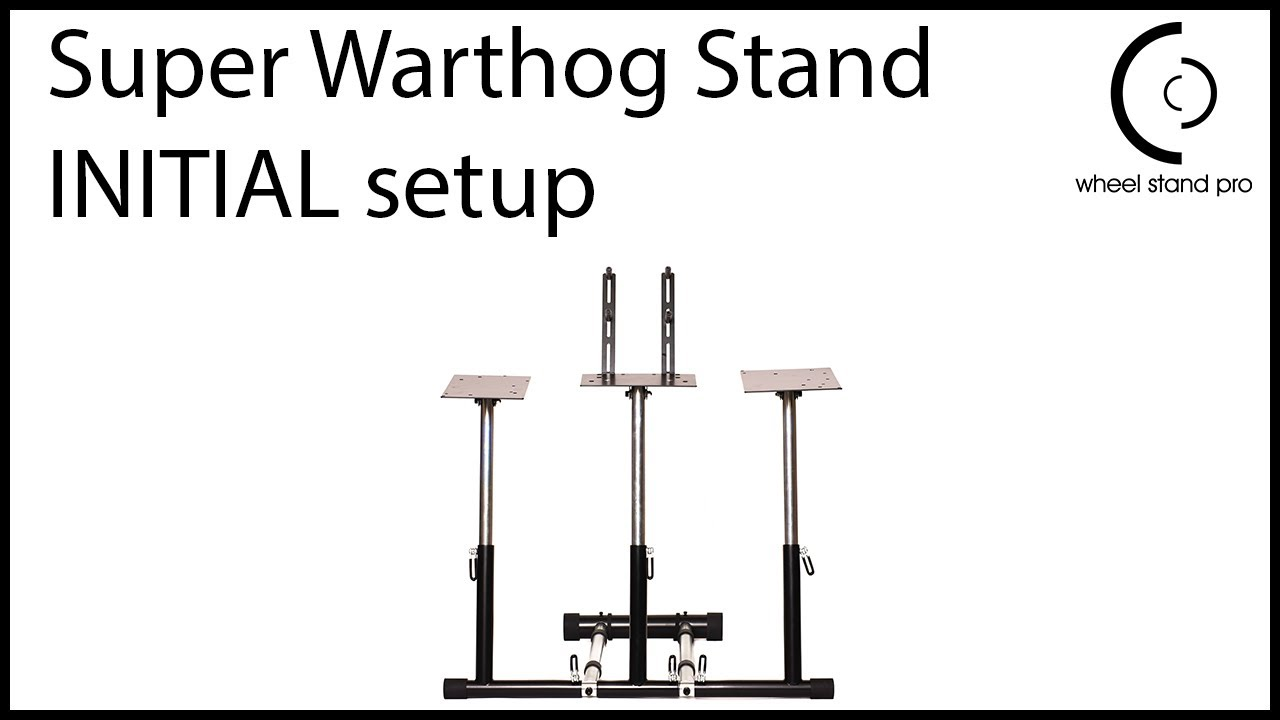 Wheel Stand Pro Super Warthog Wheel stand Compatible With Thrustmaster  HOTAS WARTHOG and Saitek pedals  Pedals/mouse/keyboard/throttles not  included