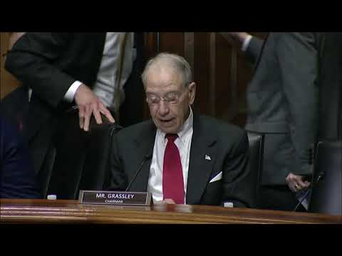 Grassley At Prescription Drug Pricing Hearing With PBMs