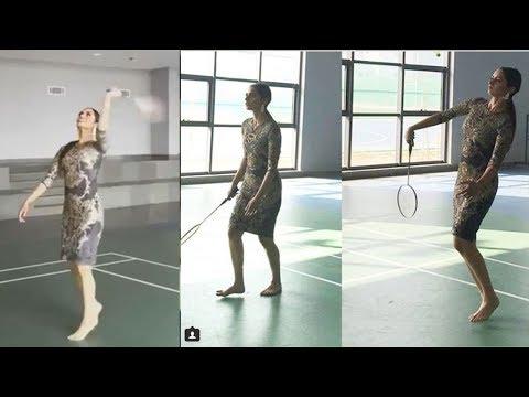 Miss World Manushi Chillar Playing AMAZING Badminton