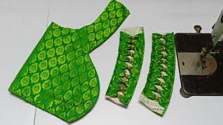 Very popular blouse back neck design || Latest blouse design || #madhurafashionkatta