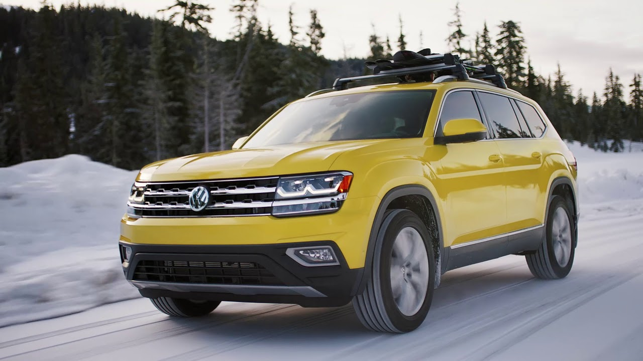 winter driving   vw atlas family suv volkswagen canada youtube