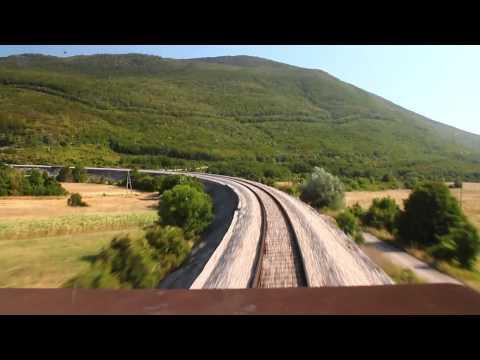Lika railway cab-view