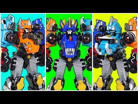 Thumbnail: 5 unit combine master! DinoCore S02 - Part 3 - Ultra D Saber, Ultra D Buster Master - DuDuPopTOY