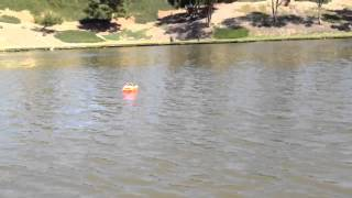 Home Made Rc Air Boat From Toy Boat First Test Run.