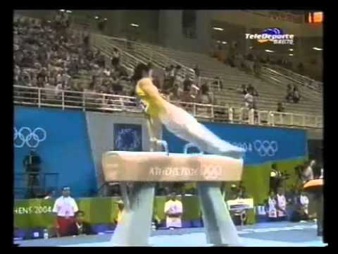 Teng Haibin (CHN) - Pommel Horse TF @ Athens Olympic Games 2004