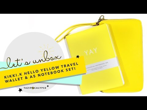 Let's Unbox: Kikki K Hello Yellow Travel Wallet & A5 Notebook Set