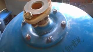 Výměna pryžového vaku u tlakové nádoby