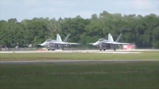 2 F-18 Super Hornets take off & unrestricted climb! thumbnail