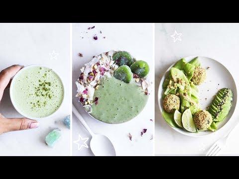 EATING ONLY GREEN FOOD? 🌱🍏🍐  // VEGAN