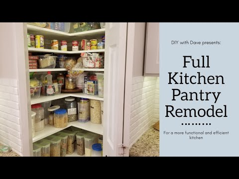 How to Add Space to your Kitchen Pantry – Easy DIY Kitchen Project