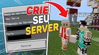 COMO CRIAR UM SERVIDOR PARA MINECRAFT PE 1.6/1.7 ! (Minecraft Pocket Edition)