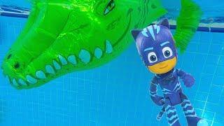 Видео для детей - Герои в Масках - Кэтбой и крокодил