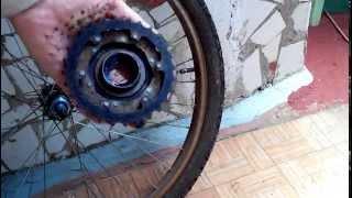 Как ЛЕГКО открутить кассету (задние звездочки)(Как ЛЕГКО снять кассету с велосипеда (задние звездочки), 2014-06-28T19:25:31.000Z)