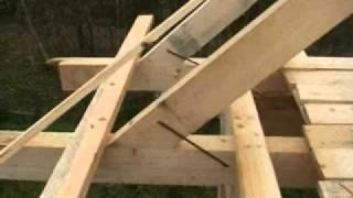 видео Висячие стропила: конструкция и узлы, стропильная затяжка крыши, расчет, устройство и схема навесных стропил, крепление
