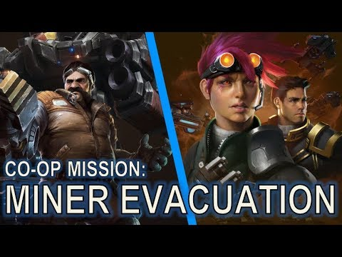 Starcraft 2 Co-Op Mission: Miner Evacuation [Turrets and Laser Drill Only]