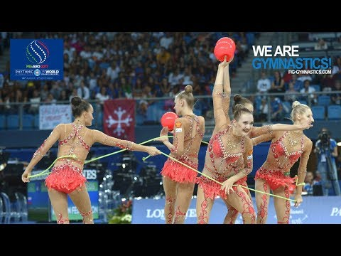 2017 Rhythmic Worlds, Pesaro (ITA) - Group Apparatus Final, 3 Balls+2Ropes, Highlights