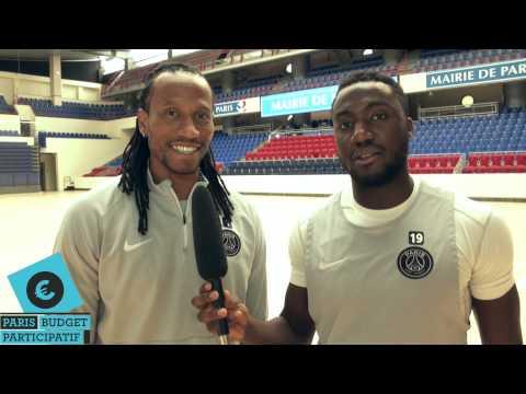 Luc Abalo et Patrice Annonay, du PSG handball, soutiennent le budget participatif