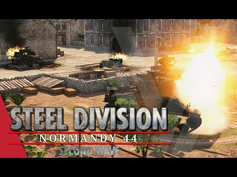 Panzergrenadier Insurgency! Steel Division: Normandy 44 Gameplay (Caumont l'Éventé, 4v4)