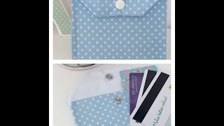 How to Sew A Store Loyalty Card Purse/Wallet