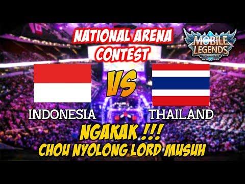 NGAKAK Chou Sukses Nyuri Lord Dari Musuh Indonesia vs Thailand National Arena Contest 03102017