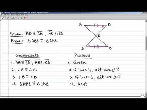 4-5 Proving Triangles Congruent with ASA and AAS