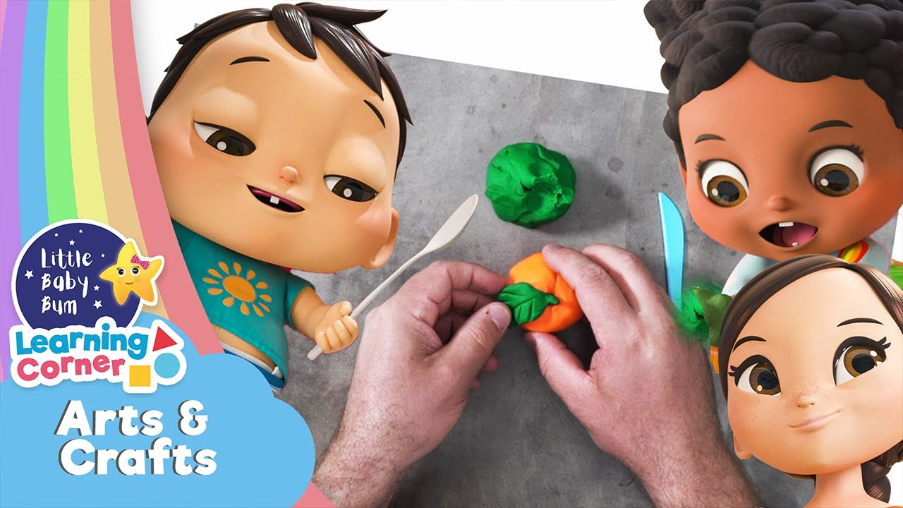 Let's Make Playdough Fruit   Arts & Crafts Corner   Learning Videos For Kids   Homeschool Cartoons