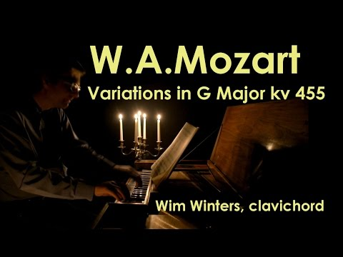 W.A.Mozart :: Variations G-major KV 455 (Gluck) :: Wim Winters, clavichord