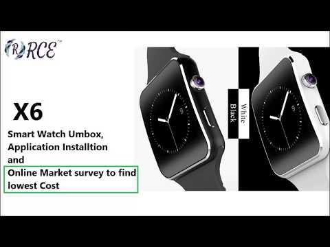 Прошивка smart watch x6
