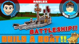 Roblox Build a Boat for Treasure with Blue Locus! A Battleship in Roblox!
