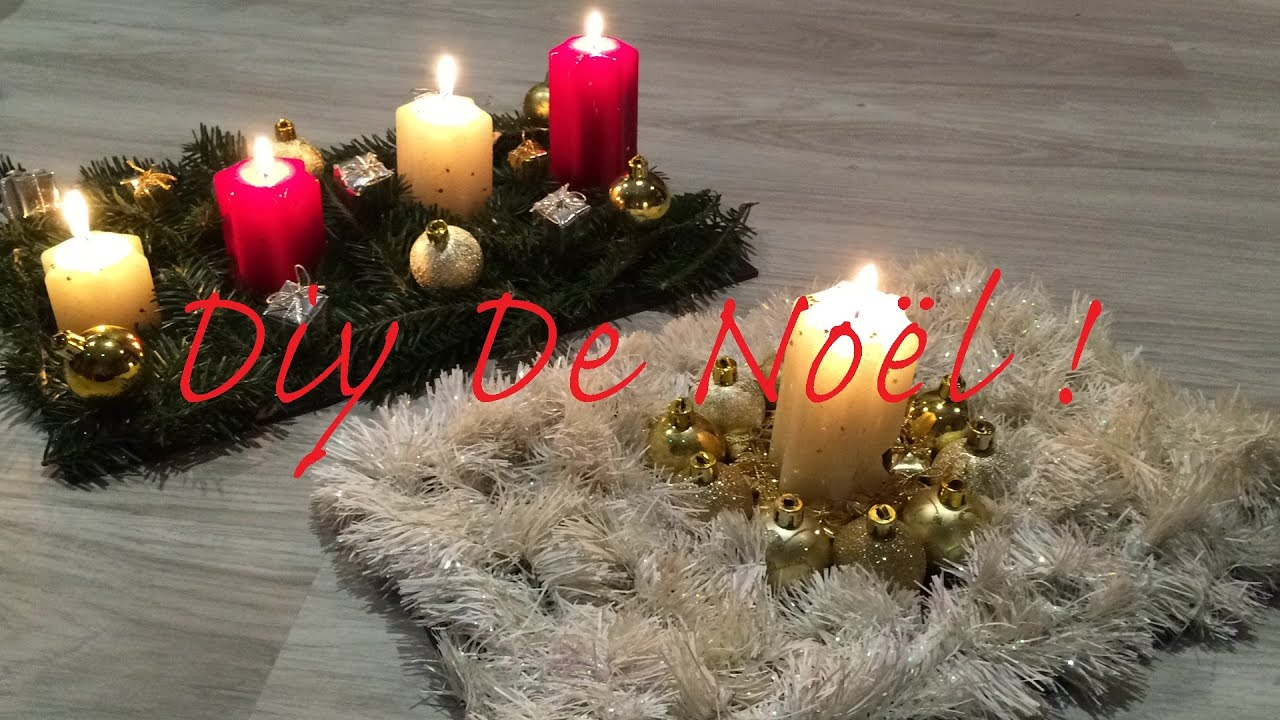 diy centres de table pour noel youtube. Black Bedroom Furniture Sets. Home Design Ideas