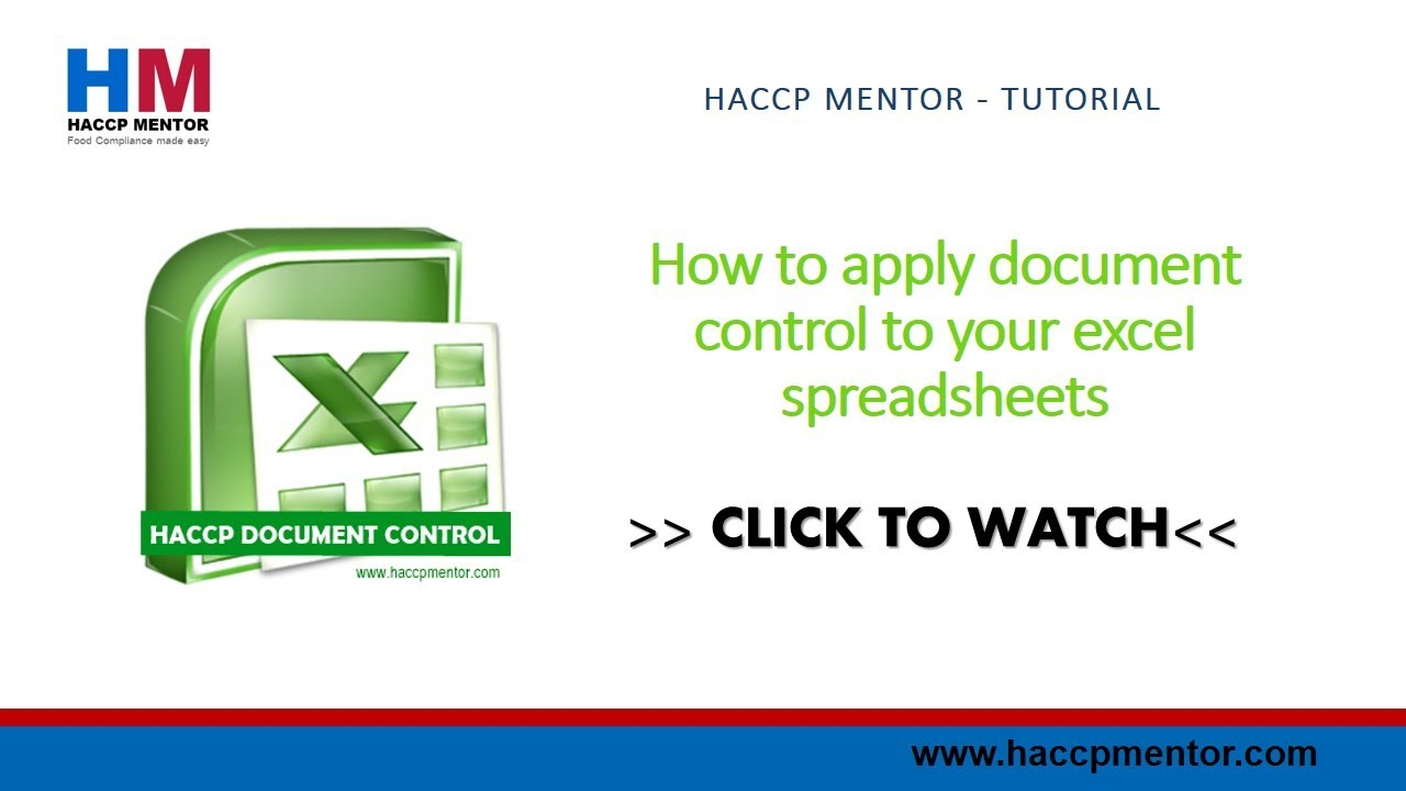 how to add document control to excel spreadsheets how to add document control to excel spreadsheets