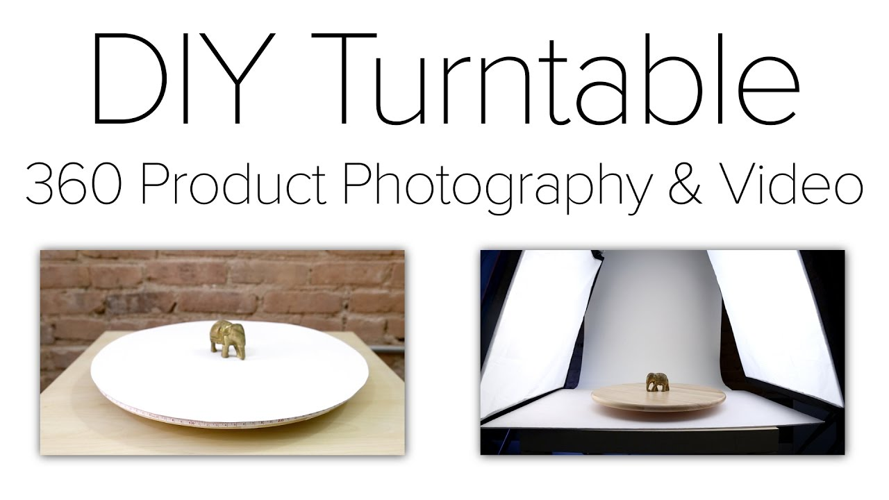 DIY Turntable for 360 Product Photography and 360 Video - No Motor Required