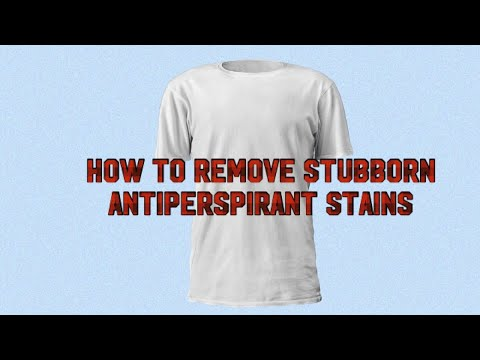 How to remove stubborn antiperspirant stains from shirts using deo-go