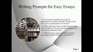 Writing Prompts for Easy Essays