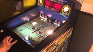 Slap Shot hockey arcade game by Data East