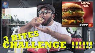 MEGA MAC 3 BITES CHALLENGE !!!!!