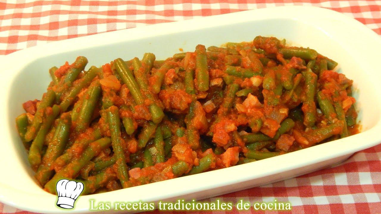 Receta De Judias Verdes Salteadas Con Jamón Y Tomate Youtube