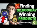EASIEST WAY To Find $2,000/Day Winning Products In 2019 (Step By Step) - Shopify Dropshipping
