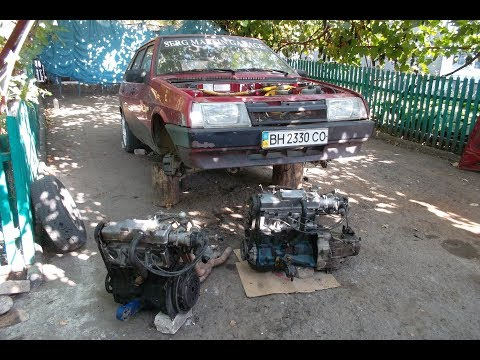 Снимаем с ВАЗ 2109 двигатель Злое Атмо 8кл и устанавливаем Сток 8кл