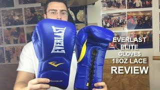 Everlast Elite Laced 18oz Training Boxing Gloves Review by ratethisgear