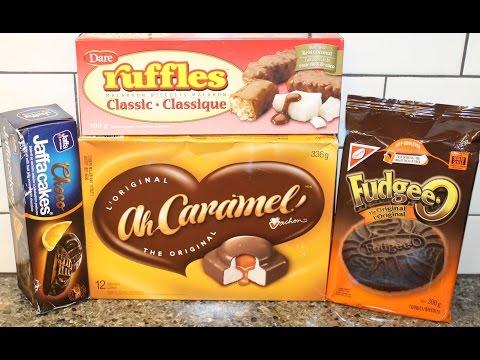 Choco Jaffa Cakes, Ruffles Macaroon Biscuits, Ah Caramel! And Fudgee-O Cookies - Canada
