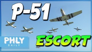 P-51 ESCORT Mission | Protect the B-17 BOMBERS (War Thunder)