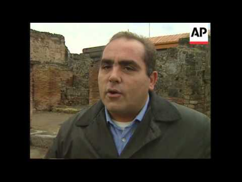 ITALY: TOWN OF POMPEII MADE A UNESCO WORLD HERITAGE SITE